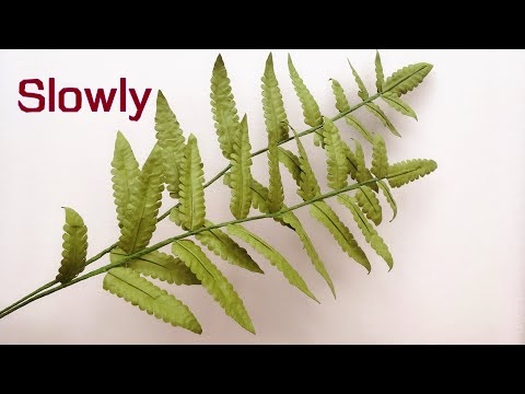 ABC TV | How To Make Paper Fern Leaves From Art Paper - Craft Tutorial