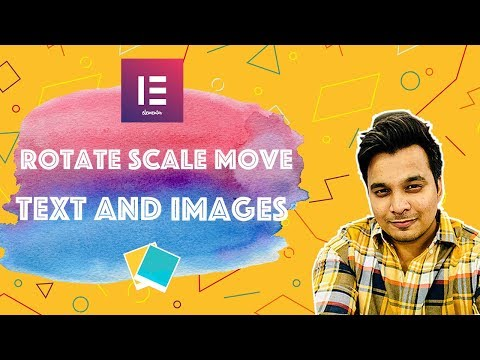 Elementor Rotate [Scale Transform] Image Text tutorial -CSS transforms Using Free version