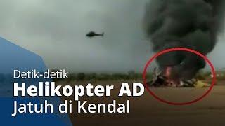 POPULER: Video Detik-detik Helikopter Milik TNI Angkatan Darat Terbakar Akibat Jatuh di Kendal