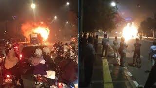 Sebuah Bus Transjakarta Hangus Terbakar di Pasar Baru, Tak Ada Korban Jiwa