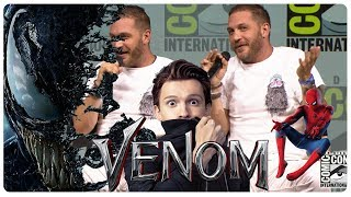 VENOM: Tom Hardy Makes Fun of Tom Holland | Spider-Man vs Venom | Comic Con Panel (SDCC 2018)