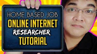 Online Jobs At Home Philippines Internet Online Researcher Job Tutorial