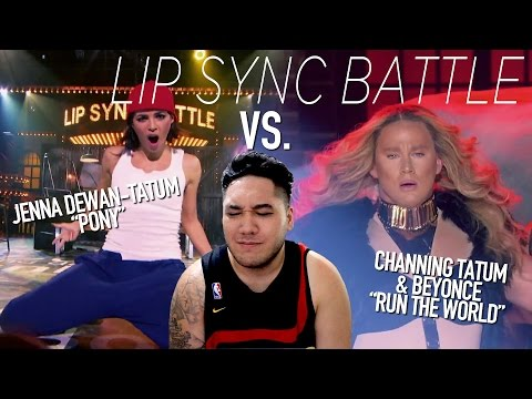 Channing Tatum & Beyonce vs. Jenna Dewan-Tatum (Lip Sync Battle) REACTION!!!