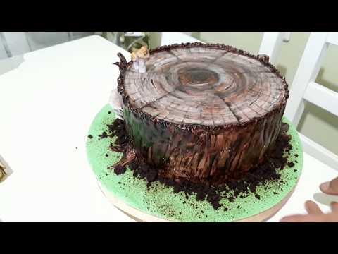Как приготовить торт в форме пня