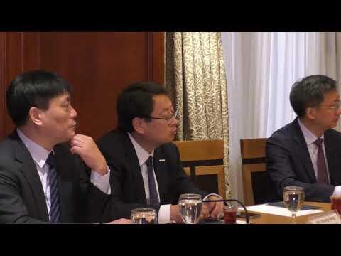 اجتماع الوزير/عمرو نصار مع وفد مقاطعة شاندونج الصينية برئاسة السيدة/ رين أيرونج نائب حاكم المقاطعة