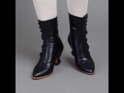 PRE-ORDER Tavistock Victorian Button Boots (Black)(1890-1925)