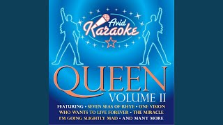 Too Much Love Will Kill You (In The Style Of Queen) (Professional Backing Track)