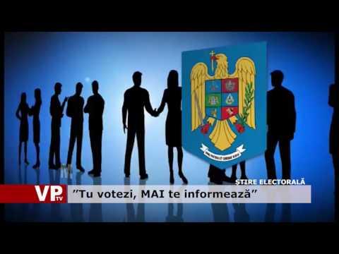 """""""Tu votezi, MAI te informează"""""""