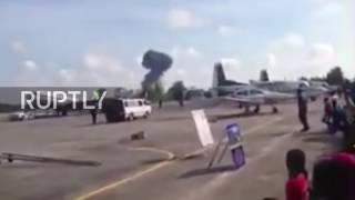 Thailand: Pilot dead as jet nose-dives into the ground at Children