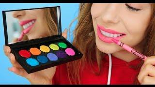 5 Ways To Turn Crayons Into Makeup! | Julia Gilman