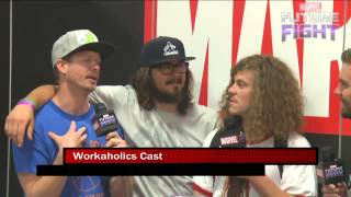 Workaholics Talk Con Life on Marvel LIVE! at San Diego Comic-Con 2015