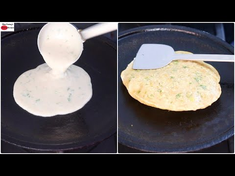 Jowar Flour Garlic Paratha With Liquid Dough – No Rolling – No Kneading Paratha – No Maida/No Wheat