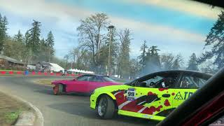 LOSE A WHEEL IN TANDEM DRIFT, PARC DRIFT FUN!