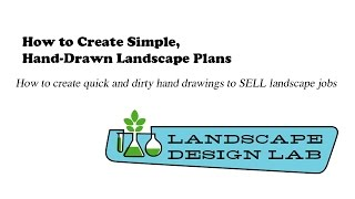 How To Create Hand Drawn Landscape Plans That Sell