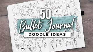 50+ (MORE) Bullet Journal Doodle Ideas!