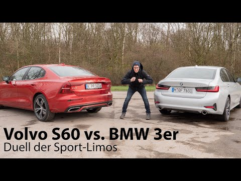 Duell der Sport-Limousinen: Volvo S60 gegen BMW 3er [4K] - Autophorie