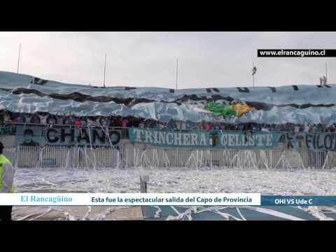 """Así recibió su hinchada a O´Higgins de Rancagua"" Barra: Trinchera Celeste • Club: O'Higgins"