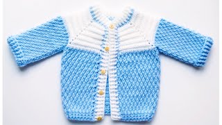 How To Crochet Easy Baby Sweater, Crochet Jacket, Crochet Cardigan For Boys And Girls 6-9M #226