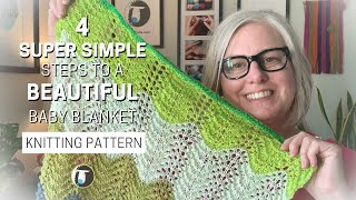 4 SUPER SIMPLE Steps To A BEAUTIFUL Baby Blanket