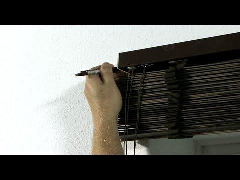 JalouCity - Montage Holzjalousie - Schnurzug 50mm (Wand)