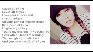 Madison Beer All of me (cover) lyrics