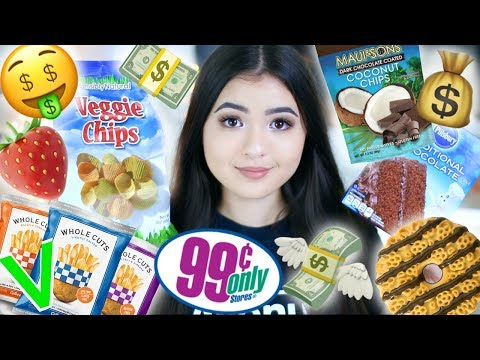 Trying VEGAN food from the DOLLAR STORE haul   🤑