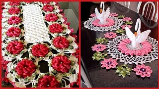 Crochet Patterns// Beautiful Crochet Flower Patterns For Table Cover/Table Mate