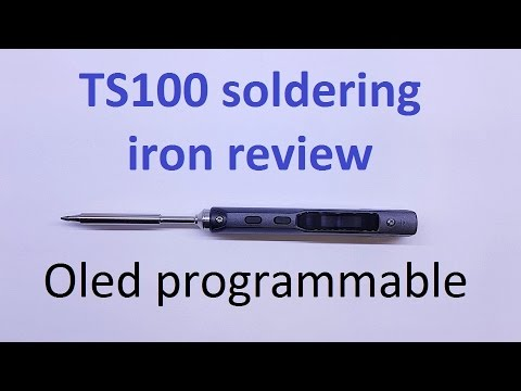 ts100 soldering iron review Cheap OLED programmable soldering iron