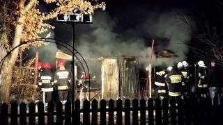 Krosno. Pożar altany Białobrzegi