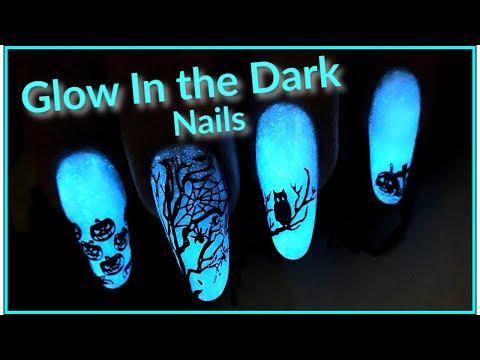 Acrylic Halloween Nail Art 👻 Glow In the Dark