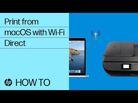 How to Print from a Mac to an HP Printer Using Wi-Fi Direct