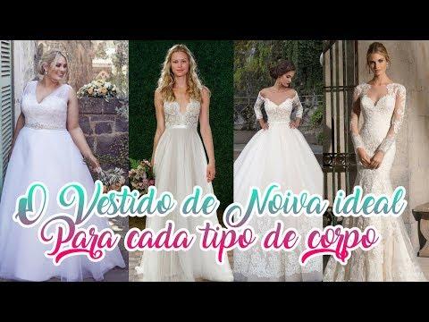 Vestido de Noiva ideal para cada tipo de corpo - Véu de Noiva