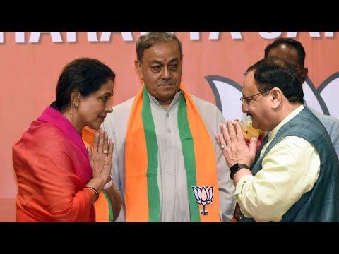 पूर्व कांग्रेस के राज्यसभा सांसद संजय सिंह & amp; भाजपा मुख्यालय में जेपी नड्डा की उपस्थिति में उनकी पत्नी भाजपा में शामिल हुईं |