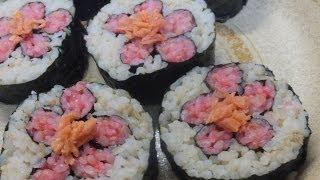 ❀ Роллы САКУРА ❀ Как приготовить роллы дома Жизнь в Японии 花ずし How to Make Sushi Rolls