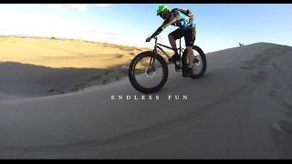 FAT BIKING EXTREME DUNES AT CRAZY SPEEDS!  gopro hero3+ 2016 NEW ZEALAND USA extreme red bull