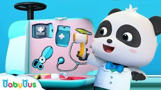 Doctor Panda With Doctor Toys | Baby Kitten Is Scared Of Hospital |  Kids Pretend Play | BabyBus