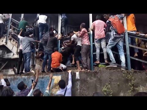 Mumbai stampede: at least 22 killed in fatal rush-hour crush –video report