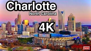 Charlotte, North Carolina - Charlotte Skyline 4K Screensaver | Charlotte Skyline at Night