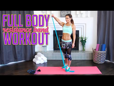 Short Full-Body Workout w/ Resistance Bands | Natalie Jill
