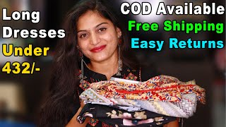 Price తక్కువ Quality ఎక్కువ | Long Dresses Under 500 | #cod #freeshipping | Vijju Talks