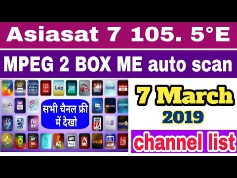 Free Dish Asiasat 105E channel list update || dd free dish