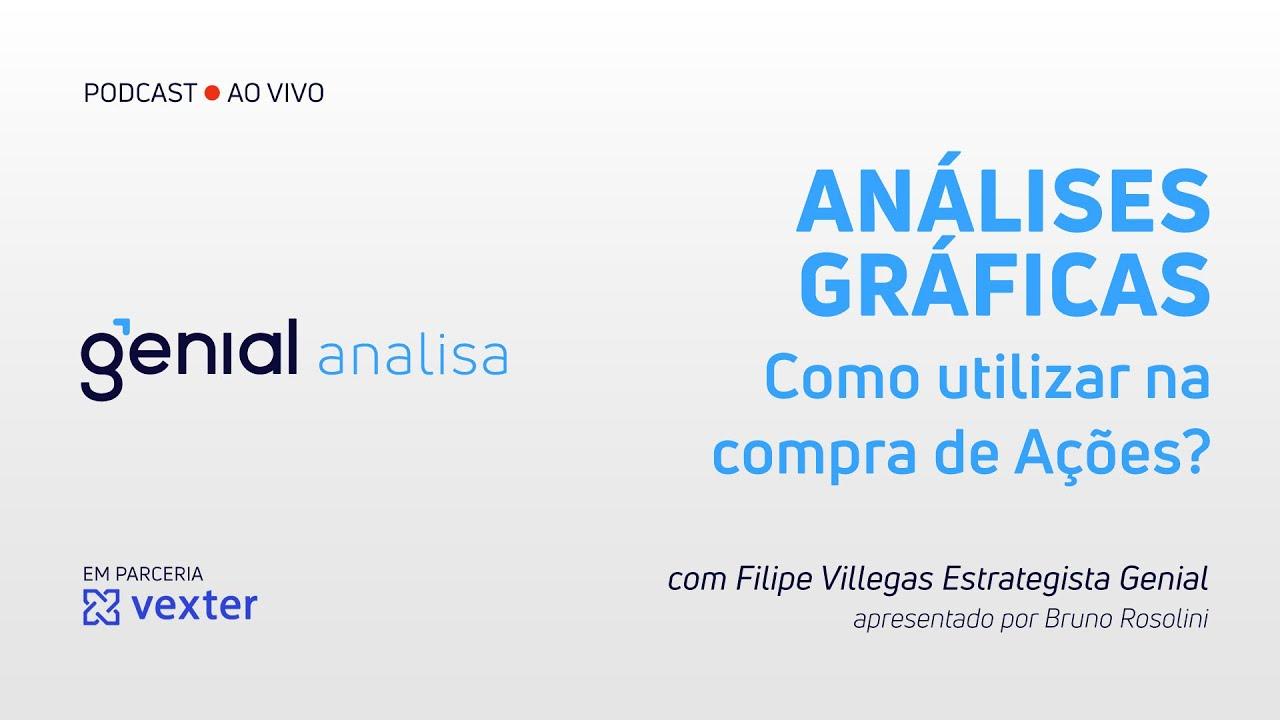 Thumbnail do vídeo: Análises Gráficas – Como utilizar na compra de Ações? | Podcast Genial Analisa