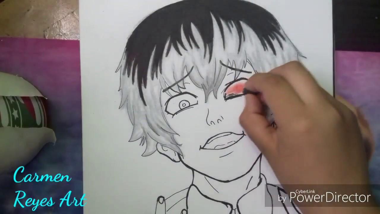 Dibujo De Haise Sasaki(Kaneki Ken) Tokyo Ghoul:Re