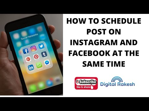 How to schedule post on instagram and facebook at the same time
