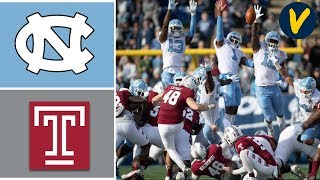 North Carolina vs Temple Highlights | 2019 Military Bowl Highlights | College Football