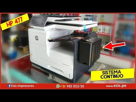 Impresora multifunción HP PageWide Pro 477dw con sistema continuo 🔥 Iniciar 🔥