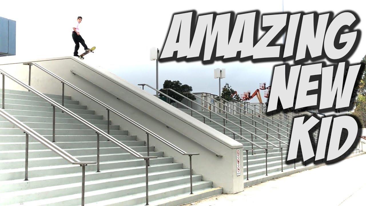 NEW AMAZING YOUNG SKATER DEVIN FLYNN !!! - NKA VIDS - - Nka Vids Skateboarding