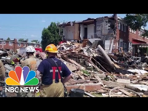 Baltimore Home Explodes Leaving One Dead, Multiple Injured | NBC News NOW