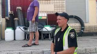 Свежее видео с Малина, покоцаные автомобили полиции