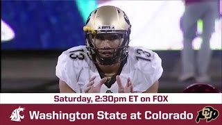 Washington State vs Colorado Game Preview   BREAKING THE HUDDLE WITH JOEL KLATT